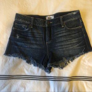 Paige mid rise denim shorts